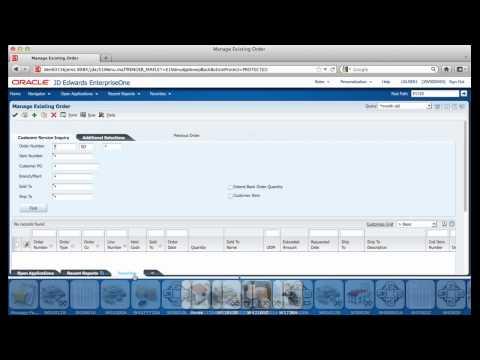 JD Edwards EnterpriseOne 9.1 UI Features Demo