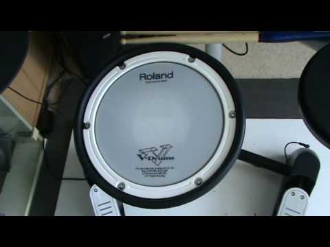 roland hd 1 v drums lite review part 2 the pads and pedals youtube. Black Bedroom Furniture Sets. Home Design Ideas