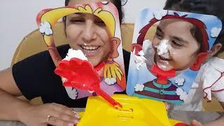 Yüze Pasta Oyunu Pie Face ضد انا ! تحدي تزيين الكيك