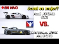 COMPARATIVA iRACING EN VIVO | Audi R8 LMS GT3 VS. Mercedes Benz AMG GT3 | Cual es mejor ?