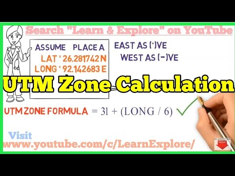 UTM Zone Calculation Formula | 31+(Longitude/6)