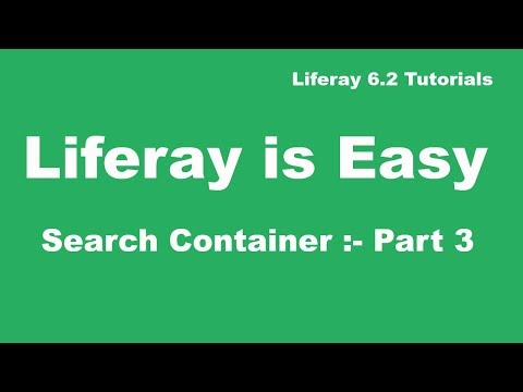 Liferay Tutorial 37 :- Search Container in Liferay (Part 3)