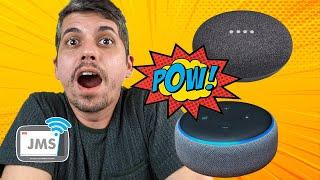 Alexa Echo Dot vs. Google Home | A SECRETÁRIA VIRTUAL MAIS CIUMENTA DO MUNDO