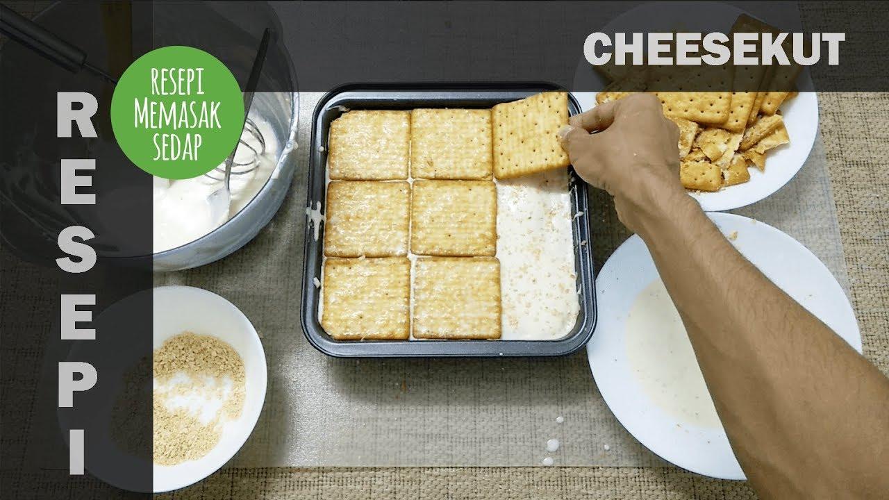 Resepi Cheesekut Original Kek Biskut Cream Cheese - YouTube
