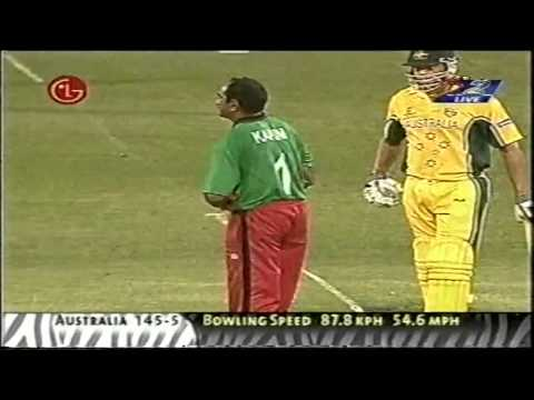 Aasif Karim Bowling Spell 2003 World Cup Kenya vs Australia
