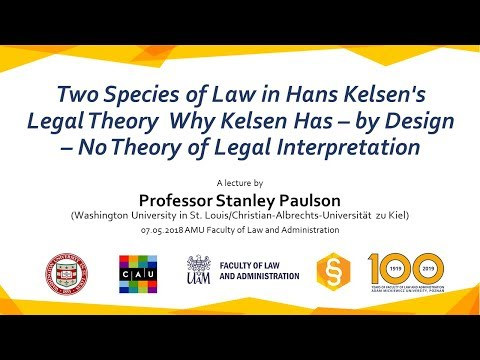 Prof. Stanley L. Paulson: Two Species of Law in Hans Kelsen's Legal Theory [KontraTV]