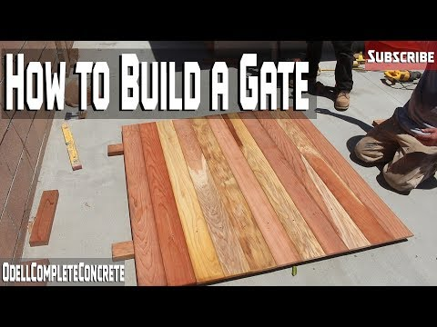 How to Build a Redwood Gate Easy DIY for Beginners! No sag! Part 7