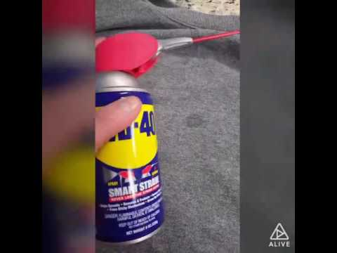 How to remove a butter oil stain