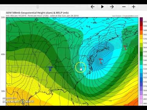 European Model Major Winter Storm For Middle Atlantic States