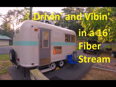 Full Time RVing in a Fiber Stream RV - How Drivin' and Vibin' Do it in their Fiberglass RV!