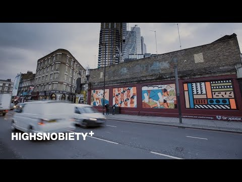 Watch This Time-Lapse of a Mural Painted by Four London Artists