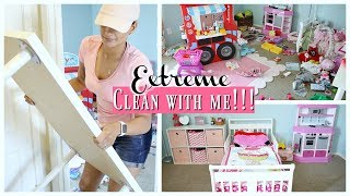 EXTREME CLEANING AND REARRANGING DAUGHTERS ROOM // ORGANIZE, DECLUTTER & CLEAN