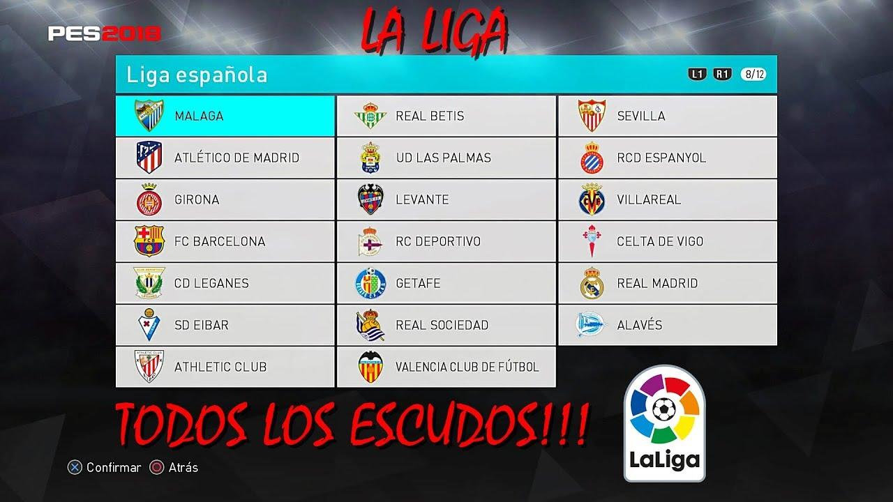 PES 2018 Como editar los Escudos de los equipos de La Liga ...