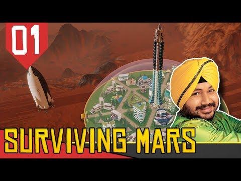 COLONIZANDO MARTE COM A INDIA - Surviving Mars #01 [Série Gameplay Português PT-BR]