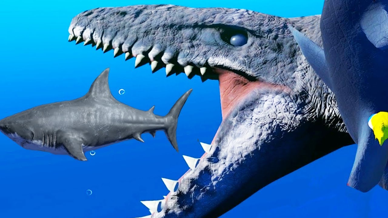 Feed and grow fish new prehistoric creatures mosasaur for How to feed fish