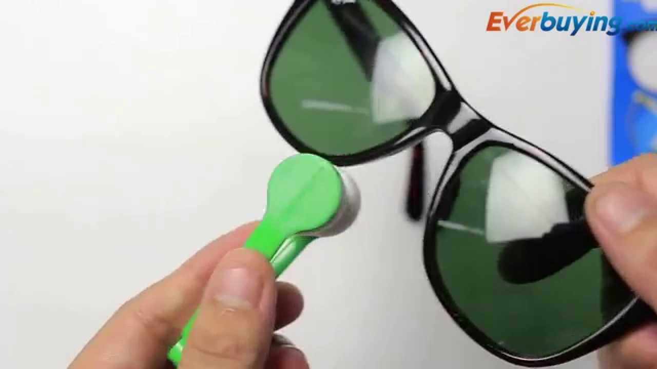 26ad95ed348 Multi-purpose Eye Glass Sunglasses Cleaning Wipes Lens Cleaner - YouTube