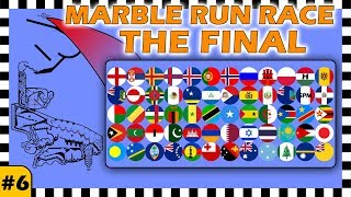 Country Balls Marble Run Race The World Final - Race 6 of 6 - Algodoo