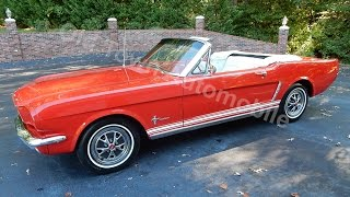 1965 Ford Mustang Convertible red for sale Old Town Automobile in Maryland