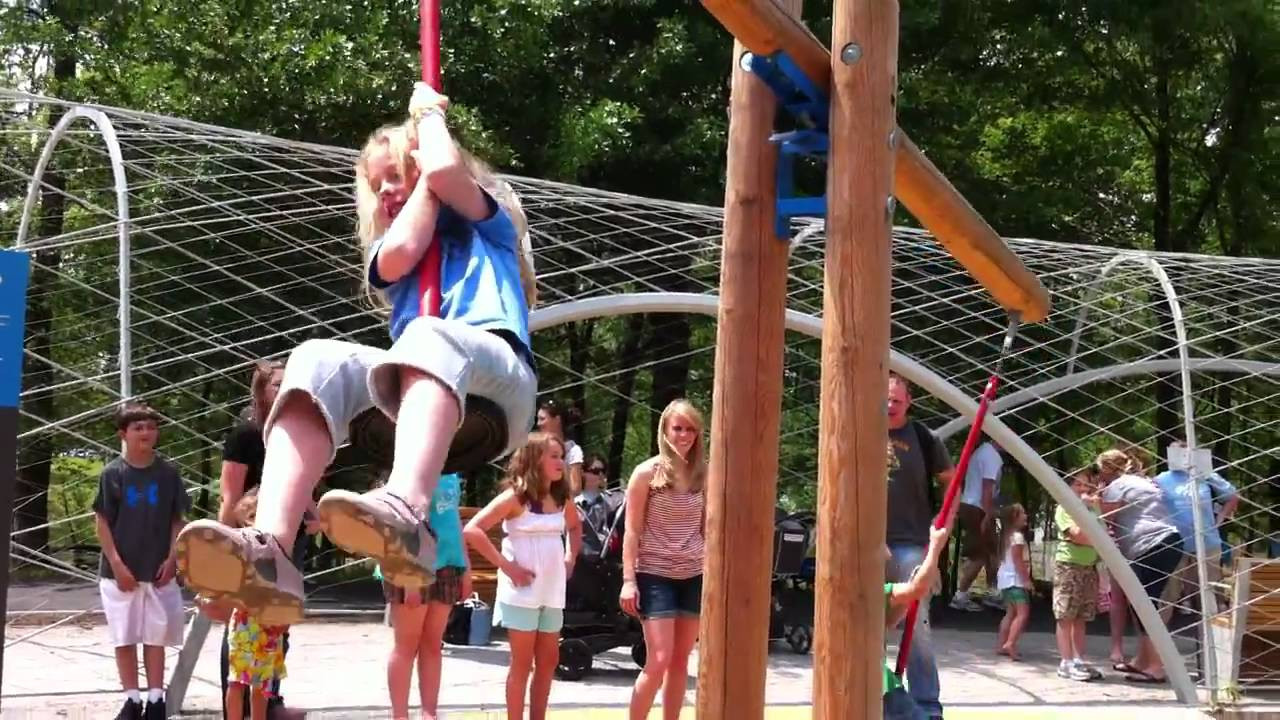 Woodland Discovery Playground At Shelby Farms Youtube