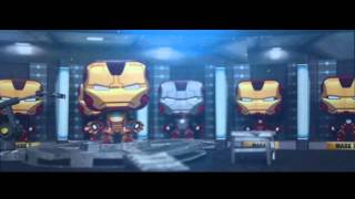 Tony Stark Playroom - Iron Man 3 Papercraft