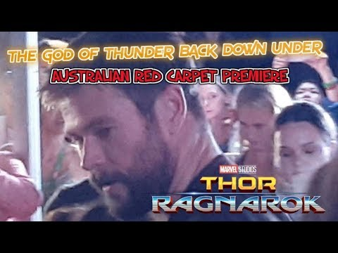 Thor Ragnarok Australian Red Carpet Premiere with Chris Hems