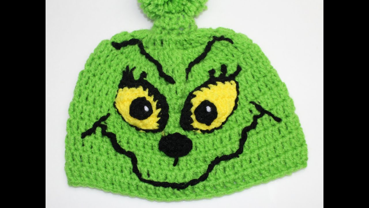 How to crochet Grinch Inspired Christmas hat - Video One - YouTube c7d9ddda211