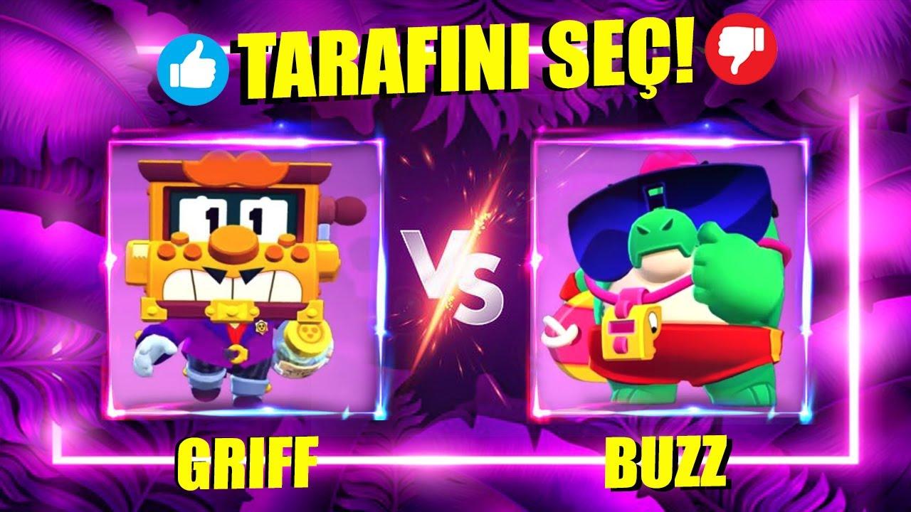 GRIFF vs BUZZ ! Brawl Stars Tarafını Seç
