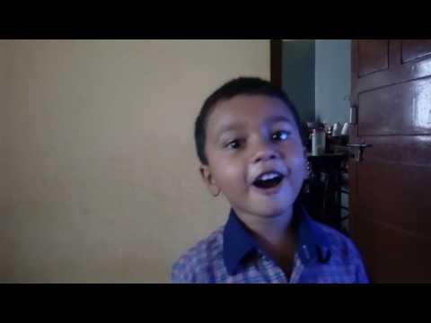 Lkg boy telling states of India and district of Karnataka