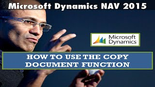 How to use the copy document function - Microsoft Dynamics NAV 2015
