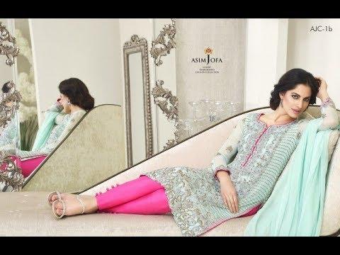f4f6b8a59d Pakistani Fancy Dresses Asim Jofa Mysorie Chiffon Collection 2017 18 ...