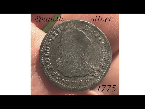 Thin Silver Spanish coin found with Metal Detector