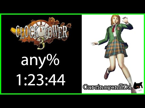 Clock Tower 3 (PS2) Speedrun - any% RTA (1:23:44 - Commentated)