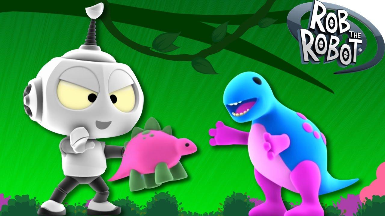 Dibujos Animados  Rob el Robot  Dinosaurio Perdido