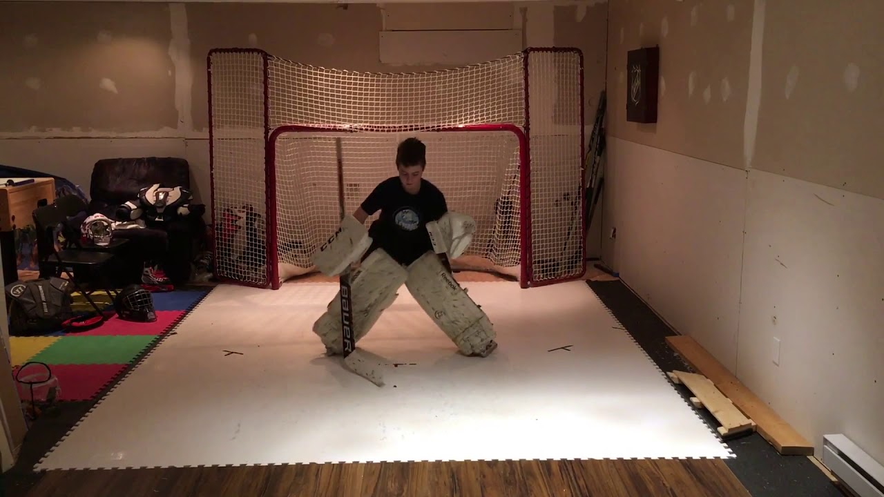 8 year old hockey goalie synthetic ice session1 youtube 8 year old hockey goalie synthetic ice session1 dailygadgetfo Gallery