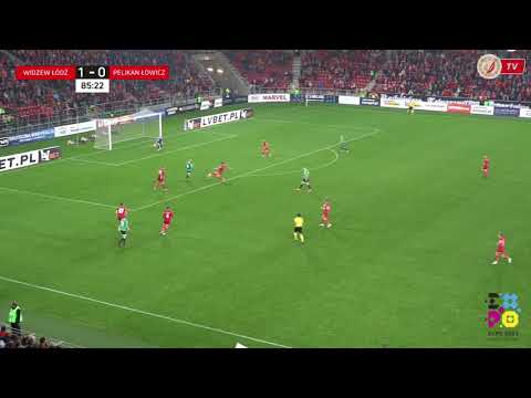 Widzew Łódź - Pelikan Łowicz 1:1 - Bramka Roberta Kowalczyka