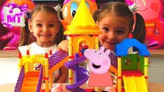 Игры для детей  Свинка Пеппа и детская площадка Видео для малышей