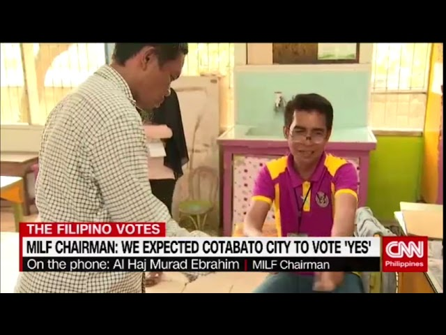 MILF chairman: We expected Cotabato City to vote 'yes'
