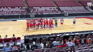 The 2018-19 Buckeyes introduce themselves to the student section
