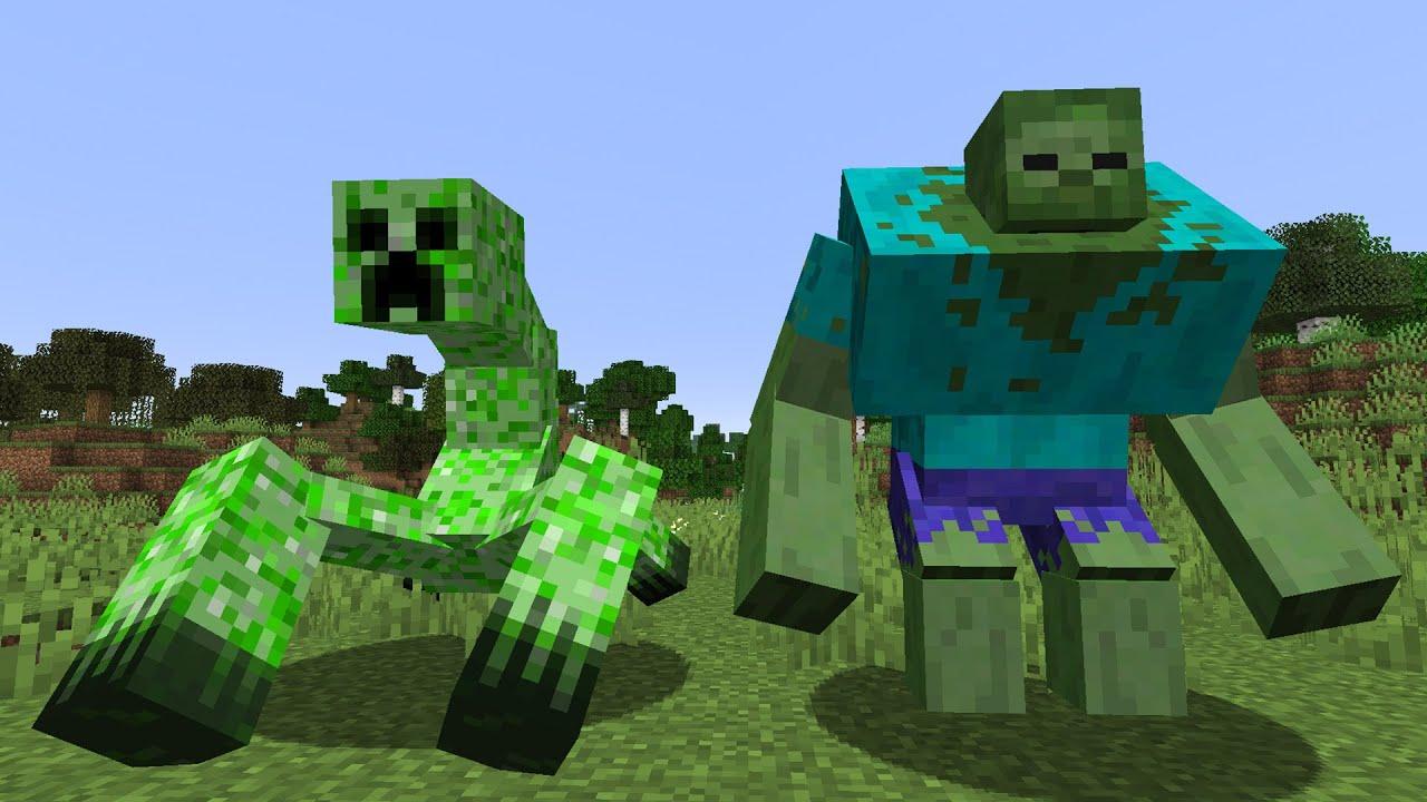 Die KRASSESTEN Minecraft 1.14 Kreaturen! Mutant Creatures/Beasts ...