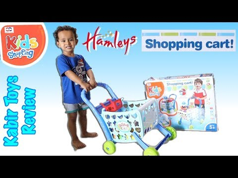 HAMLEYS Kids SHOPPING CART Unboxing, Review & Pretend Play