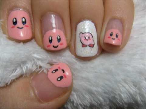 Kirby Nail Tutorial YouTube