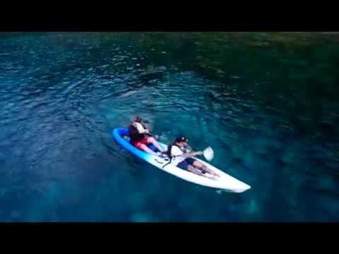 Christmas Island- drone / go-pro kayaking