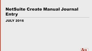 #52 | NetSuite Create Amortizing Journal Entries