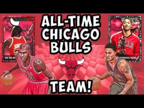 All-Time Chicago Bulls Team! - NBA 2K15 MyTeam - Ruby Michael Jordan and Onyx D-Rose!