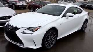 New Ultra White on Red  2015 Lexus RC 350 2dr Cpe AWD - F Sport Series 1 Review - West Edmonton