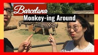 VLOG-12 | Traveling in Europe | Monkey-ing Around in Barcelona