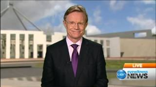 Ten Eyewitness News Sydney - Sandra Sully refers to Hugh Riminton as Hugh Jackman (18/12/2013)