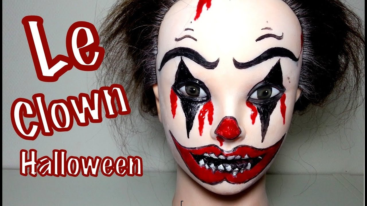 maquillage halloween le clown youtube. Black Bedroom Furniture Sets. Home Design Ideas