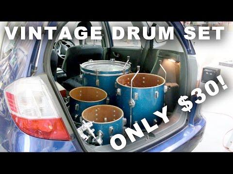 Vintage Drum Set for $30!