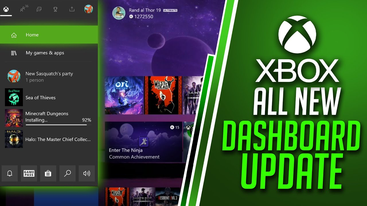ALL NEW Xbox One Dashboard Update 2020 - Xbox Guide Changes